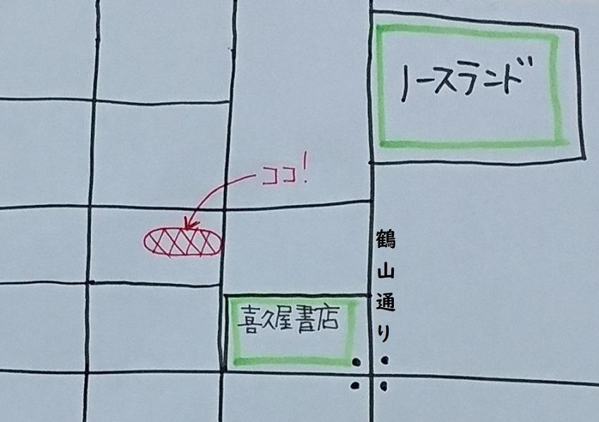 大阪風お好み焼き「千船(ちふね)」地図