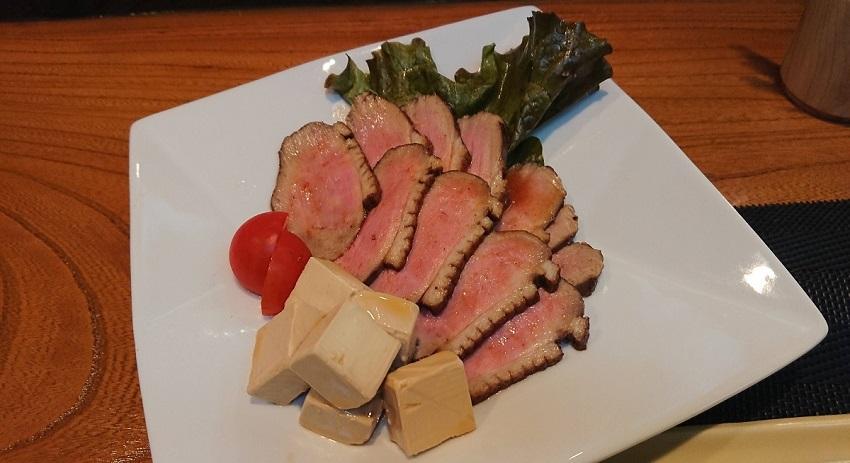 和食バル&鮨「料理屋 山崎」鴨とクリームチーズ