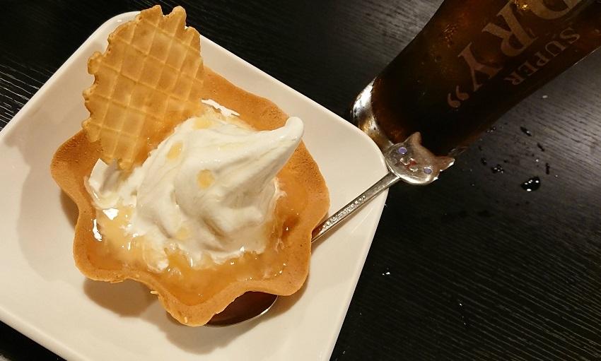 居酒屋上屋(かみや)ソフトクリーム