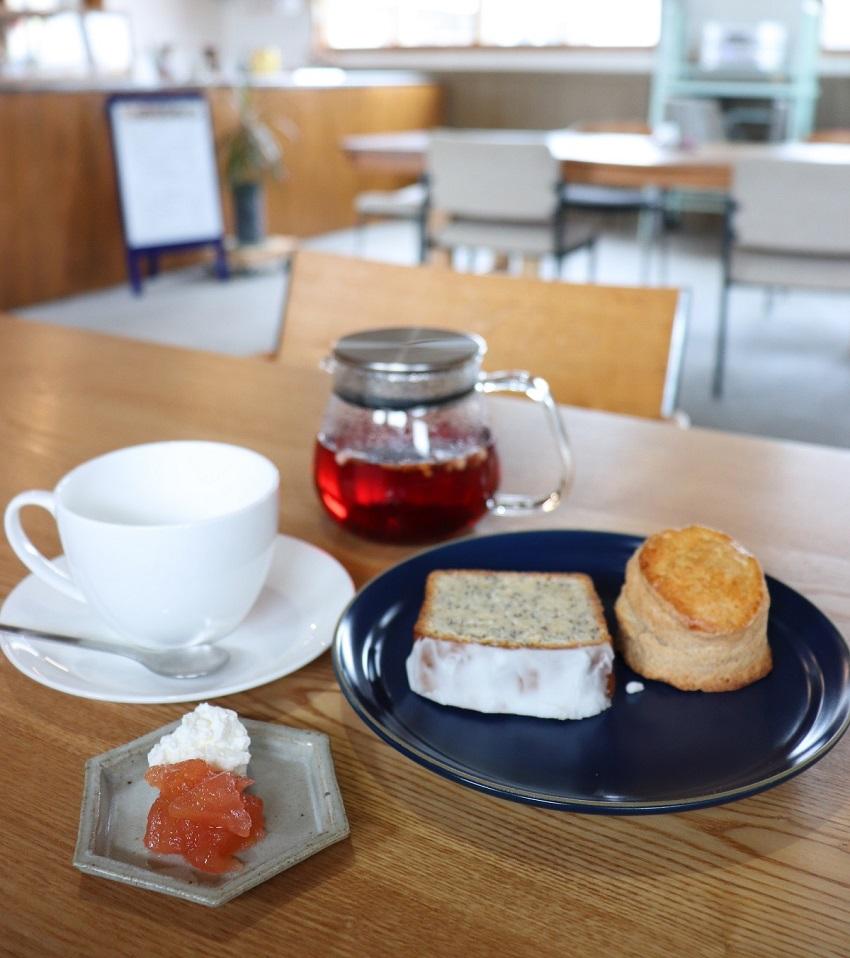 ギャラリーFIXAとcafe calme(カフェカルム)スコーン