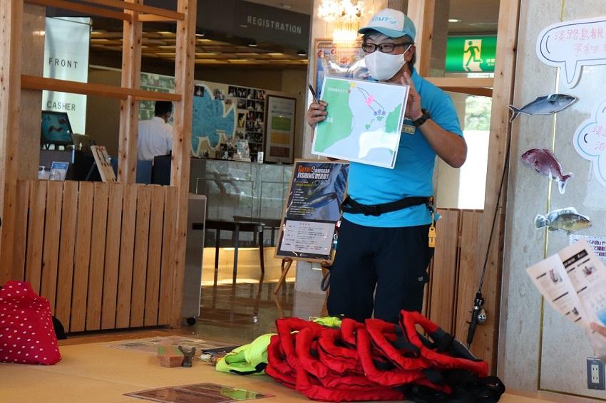 淡路島観光ホテル船釣り体験