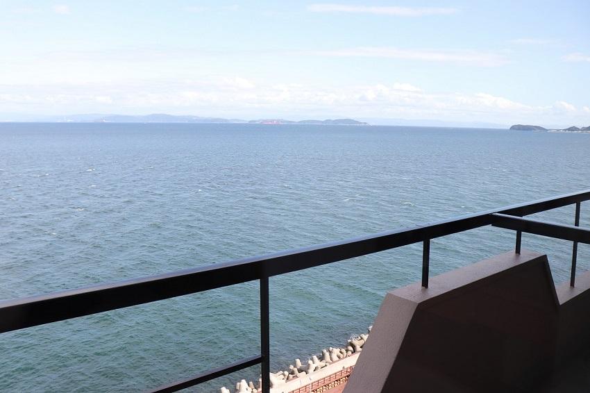 淡路島観光ホテルの部屋からの景色