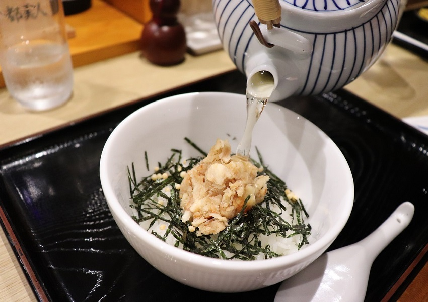 淡路島観光ホテルのグルメ鯛茶漬け