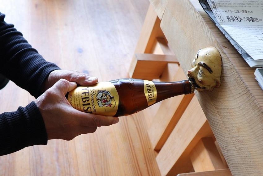 萬來屋のエビスビール