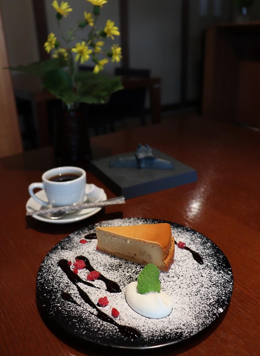 勝山文化往来館カフェ・ギャラリー「ひしお」デザート