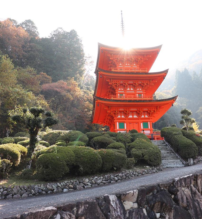 真木山長福寺岡山県最古の建造物「三重塔」