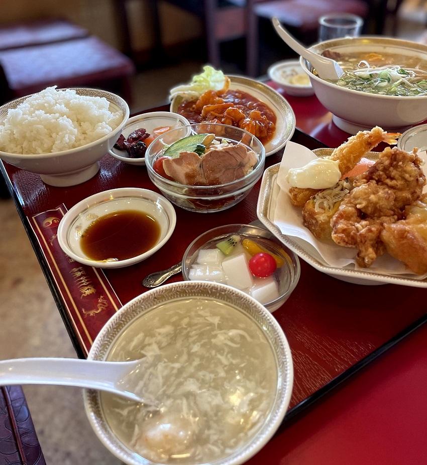 中華料理 満州楼(まんしゅうろう)エビチリ定食