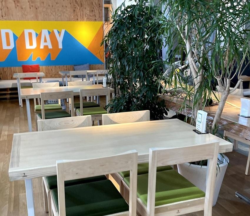 Cafe&Dining San(カフェ&ダイニング サン)店内テーブル席