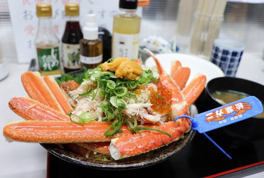 山芳海産「山芳亭」松葉ガニ丼
