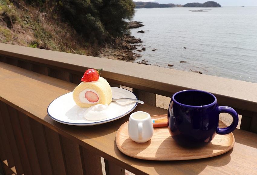 おやじの海「カフェ ラララ」デザート(ケーキ)