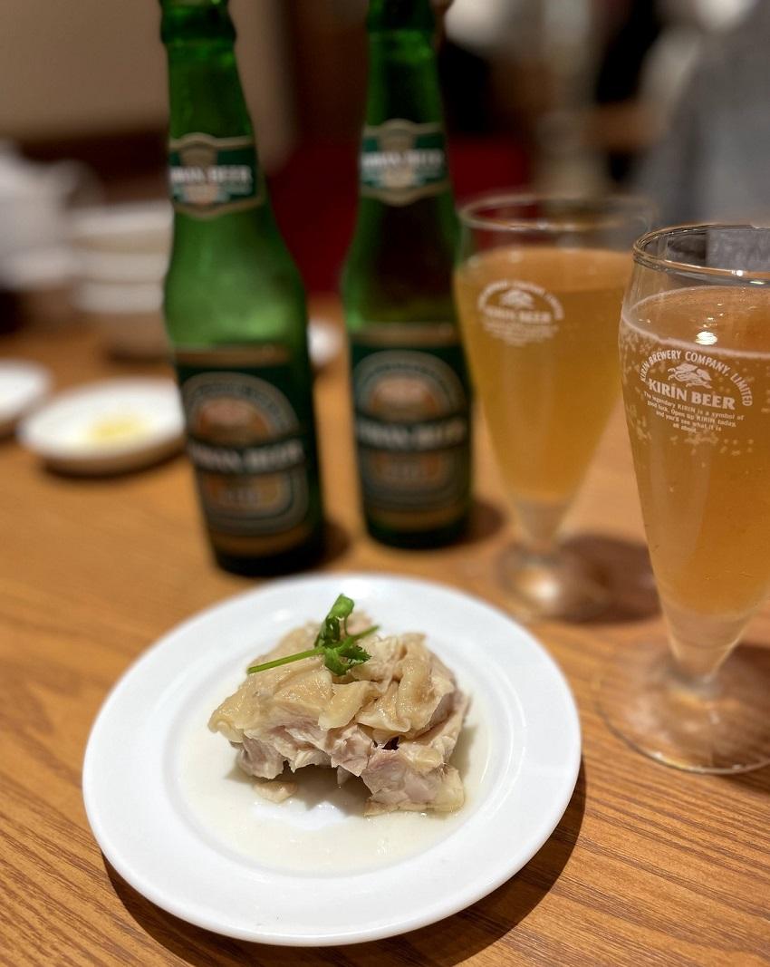 鼎泰豐(Din Tai Fung・ディンタイフォン)京都店鶏肉の紹興酒漬け
